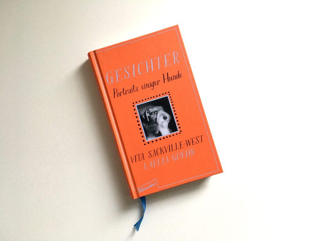 Buch mit Titel »Gesichter – Portraits einiger Hunde« von Vita Sacjville-West und Laelia Goehr